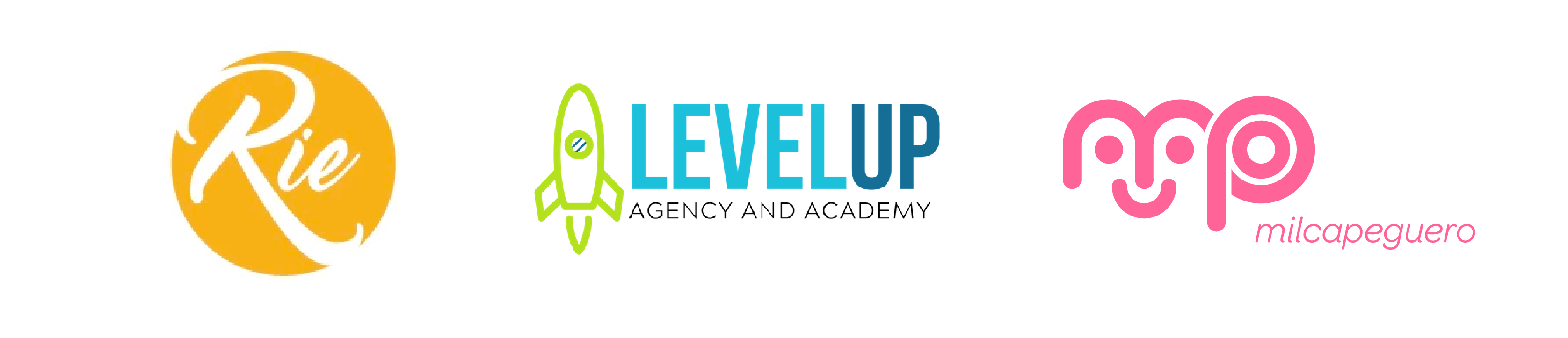 Logos Rie Levelup Milca | Email Marketing Boot Cam